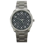 WOVEN2 BLACK MARBLE & ICE CRYSTALS (R) Sport Metal Watch