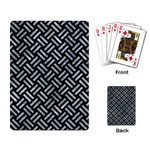 WOVEN2 BLACK MARBLE & ICE CRYSTALS (R) Playing Card