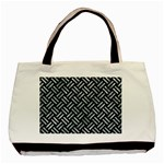 WOVEN2 BLACK MARBLE & ICE CRYSTALS (R) Basic Tote Bag