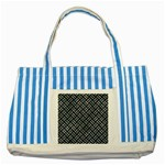 WOVEN2 BLACK MARBLE & ICE CRYSTALS (R) Striped Blue Tote Bag