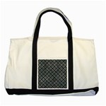 WOVEN2 BLACK MARBLE & ICE CRYSTALS (R) Two Tone Tote Bag