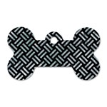 WOVEN2 BLACK MARBLE & ICE CRYSTALS (R) Dog Tag Bone (One Side)
