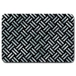 WOVEN2 BLACK MARBLE & ICE CRYSTALS (R) Large Doormat