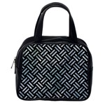 WOVEN2 BLACK MARBLE & ICE CRYSTALS (R) Classic Handbags (One Side)