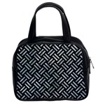 WOVEN2 BLACK MARBLE & ICE CRYSTALS (R) Classic Handbags (2 Sides)