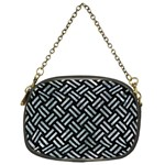 WOVEN2 BLACK MARBLE & ICE CRYSTALS (R) Chain Purses (One Side)