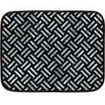WOVEN2 BLACK MARBLE & ICE CRYSTALS (R) Fleece Blanket (Mini)
