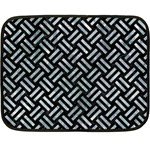 WOVEN2 BLACK MARBLE & ICE CRYSTALS (R) Double Sided Fleece Blanket (Mini)
