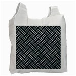 WOVEN2 BLACK MARBLE & ICE CRYSTALS (R) Recycle Bag (Two Side)