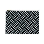 WOVEN2 BLACK MARBLE & ICE CRYSTALS (R) Cosmetic Bag (Large)