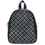 WOVEN2 BLACK MARBLE & ICE CRYSTALS (R) School Bag (Small)
