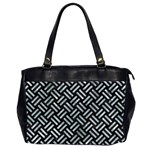 WOVEN2 BLACK MARBLE & ICE CRYSTALS (R) Office Handbags (2 Sides)