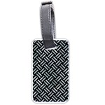WOVEN2 BLACK MARBLE & ICE CRYSTALS (R) Luggage Tags (Two Sides)