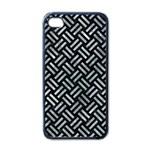 WOVEN2 BLACK MARBLE & ICE CRYSTALS (R) Apple iPhone 4 Case (Black)