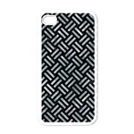 WOVEN2 BLACK MARBLE & ICE CRYSTALS (R) Apple iPhone 4 Case (White)