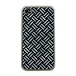 WOVEN2 BLACK MARBLE & ICE CRYSTALS (R) Apple iPhone 4 Case (Clear)