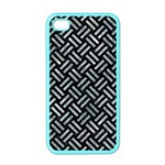 WOVEN2 BLACK MARBLE & ICE CRYSTALS (R) Apple iPhone 4 Case (Color)