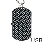 WOVEN2 BLACK MARBLE & ICE CRYSTALS (R) Dog Tag USB Flash (One Side)