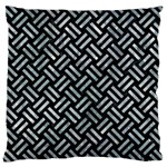 WOVEN2 BLACK MARBLE & ICE CRYSTALS (R) Large Cushion Case (One Side)