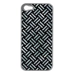 WOVEN2 BLACK MARBLE & ICE CRYSTALS (R) Apple iPhone 5 Case (Silver)