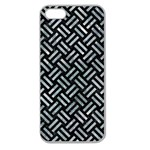 WOVEN2 BLACK MARBLE & ICE CRYSTALS (R) Apple Seamless iPhone 5 Case (Clear)