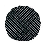 WOVEN2 BLACK MARBLE & ICE CRYSTALS (R) Standard 15  Premium Round Cushions