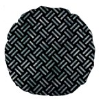 WOVEN2 BLACK MARBLE & ICE CRYSTALS (R) Large 18  Premium Round Cushions