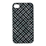 WOVEN2 BLACK MARBLE & ICE CRYSTALS (R) Apple iPhone 4/4S Hardshell Case with Stand