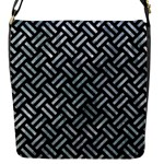 WOVEN2 BLACK MARBLE & ICE CRYSTALS (R) Flap Messenger Bag (S)