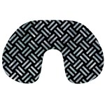 WOVEN2 BLACK MARBLE & ICE CRYSTALS (R) Travel Neck Pillows