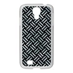 WOVEN2 BLACK MARBLE & ICE CRYSTALS (R) Samsung GALAXY S4 I9500/ I9505 Case (White)
