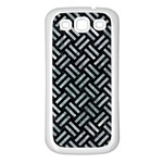WOVEN2 BLACK MARBLE & ICE CRYSTALS (R) Samsung Galaxy S3 Back Case (White)