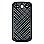 WOVEN2 BLACK MARBLE & ICE CRYSTALS (R) Samsung Galaxy S3 Back Case (Black)