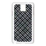 WOVEN2 BLACK MARBLE & ICE CRYSTALS (R) Samsung Galaxy Note 3 N9005 Case (White)