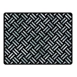 WOVEN2 BLACK MARBLE & ICE CRYSTALS (R) Double Sided Fleece Blanket (Small)
