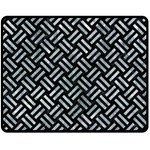 WOVEN2 BLACK MARBLE & ICE CRYSTALS (R) Double Sided Fleece Blanket (Medium)