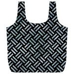 WOVEN2 BLACK MARBLE & ICE CRYSTALS (R) Full Print Recycle Bags (L)