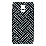 WOVEN2 BLACK MARBLE & ICE CRYSTALS (R) Samsung Galaxy S5 Back Case (White)