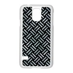 WOVEN2 BLACK MARBLE & ICE CRYSTALS (R) Samsung Galaxy S5 Case (White)