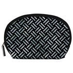 WOVEN2 BLACK MARBLE & ICE CRYSTALS (R) Accessory Pouches (Large)