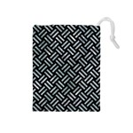 WOVEN2 BLACK MARBLE & ICE CRYSTALS (R) Drawstring Pouches (Medium)
