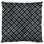 WOVEN2 BLACK MARBLE & ICE CRYSTALS (R) Large Flano Cushion Case (One Side)