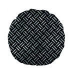WOVEN2 BLACK MARBLE & ICE CRYSTALS (R) Standard 15  Premium Flano Round Cushions