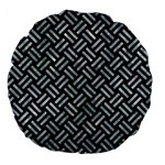 WOVEN2 BLACK MARBLE & ICE CRYSTALS (R) Large 18  Premium Flano Round Cushions