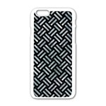 WOVEN2 BLACK MARBLE & ICE CRYSTALS (R) Apple iPhone 6/6S White Enamel Case