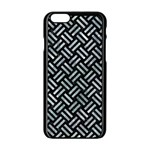 WOVEN2 BLACK MARBLE & ICE CRYSTALS (R) Apple iPhone 6/6S Black Enamel Case