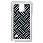 WOVEN2 BLACK MARBLE & ICE CRYSTALS (R) Samsung Galaxy Note 4 Case (White)