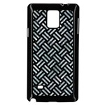 WOVEN2 BLACK MARBLE & ICE CRYSTALS (R) Samsung Galaxy Note 4 Case (Black)