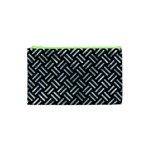WOVEN2 BLACK MARBLE & ICE CRYSTALS (R) Cosmetic Bag (XS)