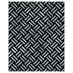 WOVEN2 BLACK MARBLE & ICE CRYSTALS (R) Drawstring Bag (Small)